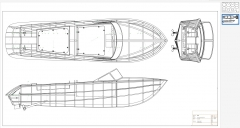 RIVA AQUARAMA SPECIAL 92cm hull model airplane plan