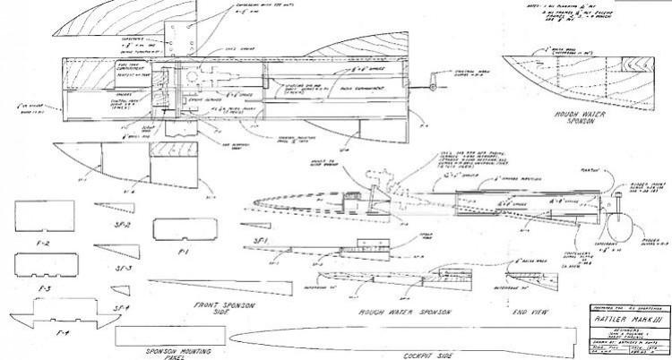 Rattler model airplane plan