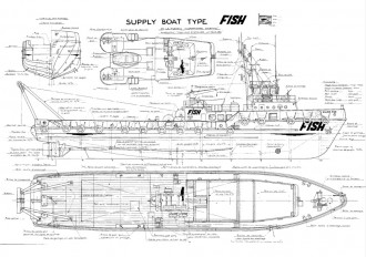 SILVER FISH model airplane plan