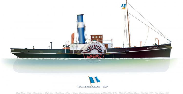 Strongbow Paddle Steamer model airplane plan