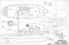 THE HARBOR TUG model airplane plan