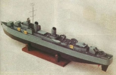 Uss Hanley model airplane plan