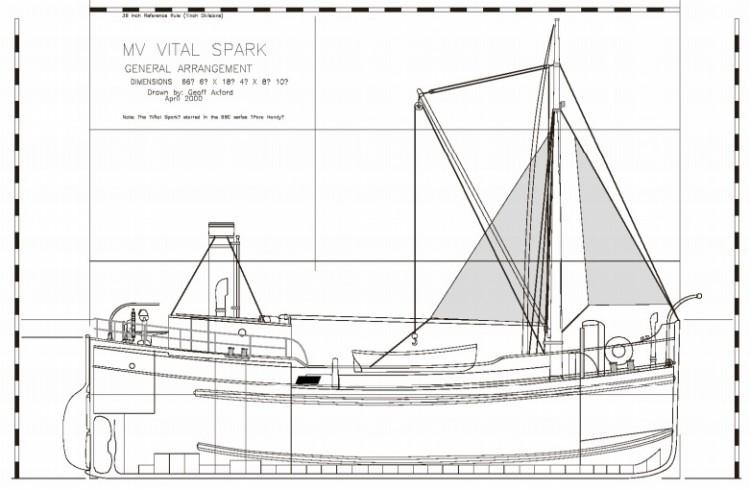 MV VITAL SPARK model airplane plan