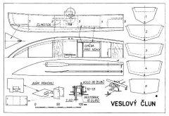 Veslovy Clun model airplane plan