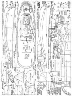 Yarra 80cm hull length model airplane plan