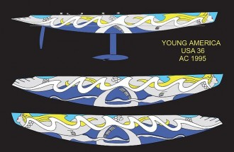 YOUNG AMERICA USA model airplane plan