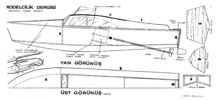 Curunus Boat model airplane plan