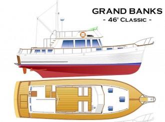 GRAND BANKS 46 CLASSIC model airplane plan