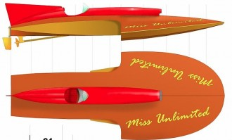MISS UNLIMITED model airplane plan