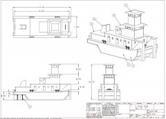 RIVER TOW BOAT model airplane plan