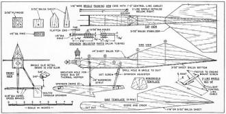 Water Skipper model airplane plan