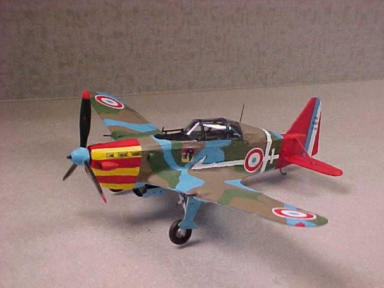 M.S.-406 model airplane plan