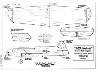 1/2A Nobler model airplane plan