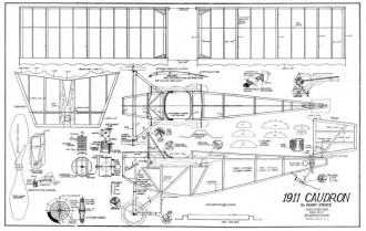1911 Caudron model airplane plan