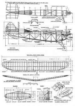 1937 Texaco model airplane plan