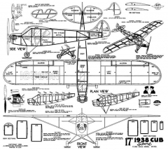 1938 Cub Sport 17in model airplane plan