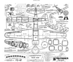 1938 Fokker Pursuit model airplane plan