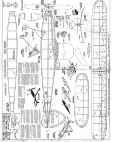 1940 Flying Cloud Berkeley model airplane plan