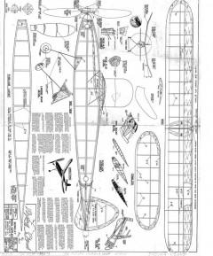 1940 Flying Cloud Berkeley model airplane plan