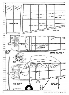 195 model airplane plan