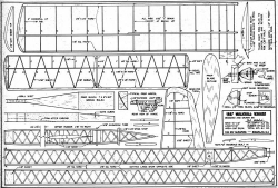 1957 Mulvihill Winner model airplane plan
