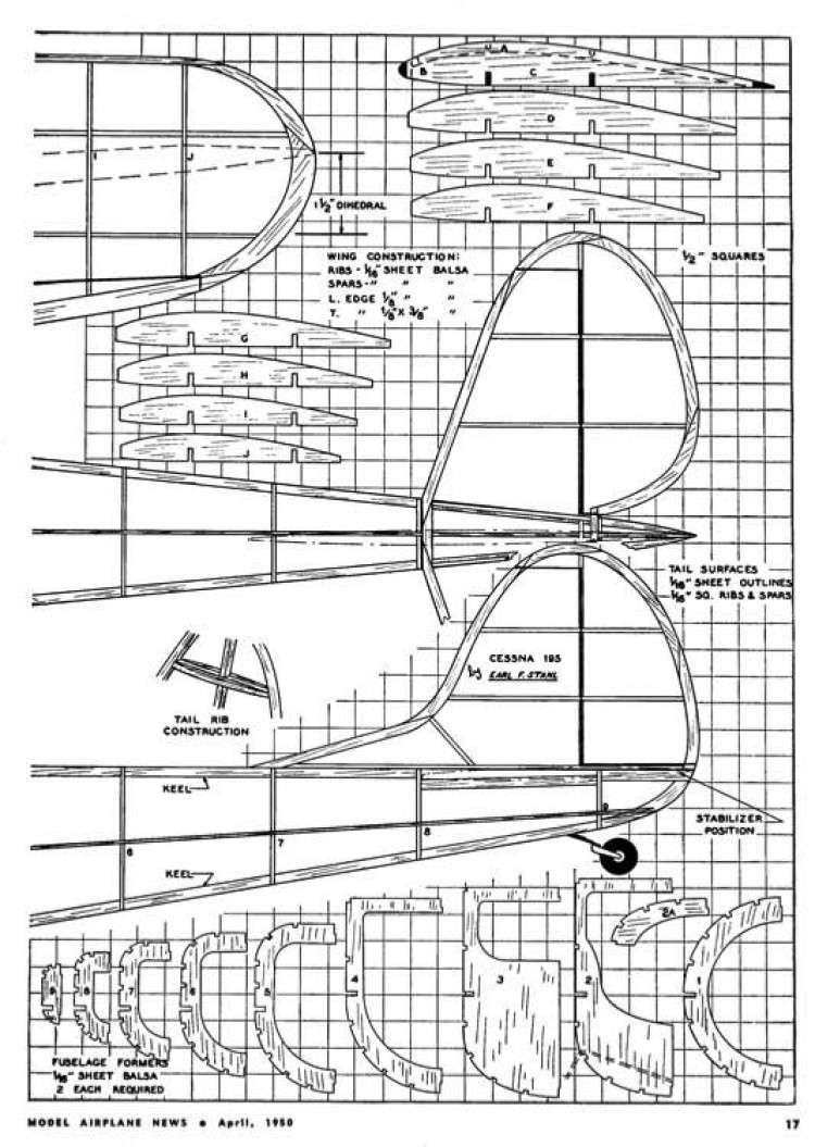 195 2 model airplane plan