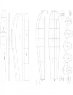 20 SIZE FLOATS Model 1 model airplane plan