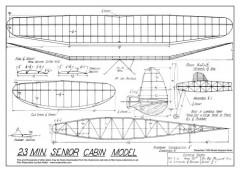 23 minute senior cabin model plan model airplane plan