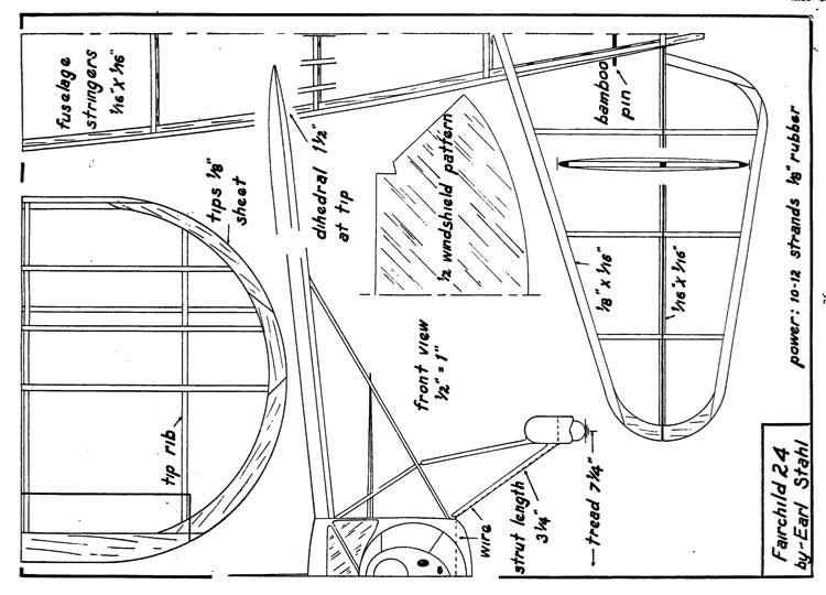 24k p1 model airplane plan