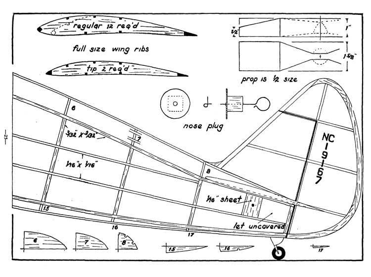 24k p2 model airplane plan