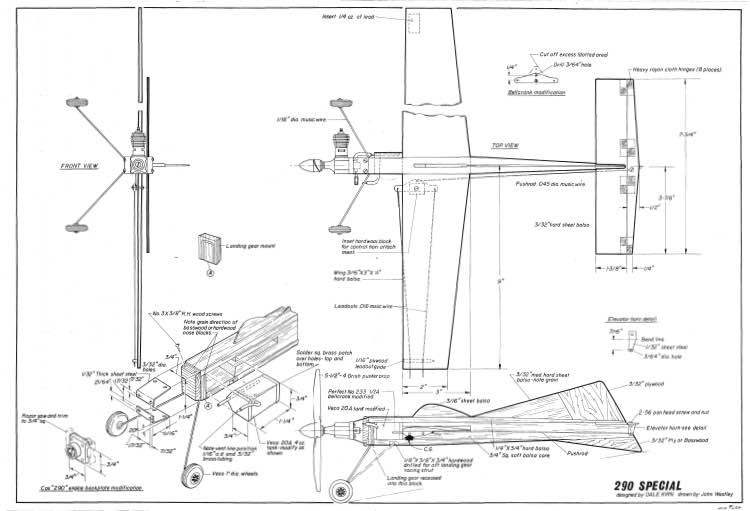 290 Special model airplane plan