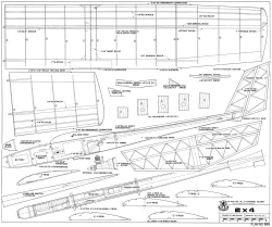 2 x 4-RCM-05-83 889 model airplane plan