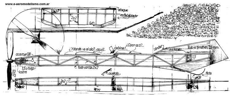 2x1 2 model airplane plan