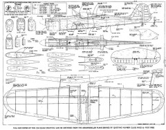 334-G model airplane plan