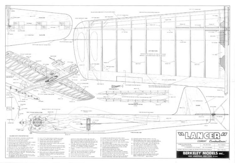 Lancer model airplane plan