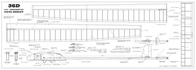 36D model airplane plan