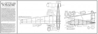 37in Glider MAC 1937 model airplane plan
