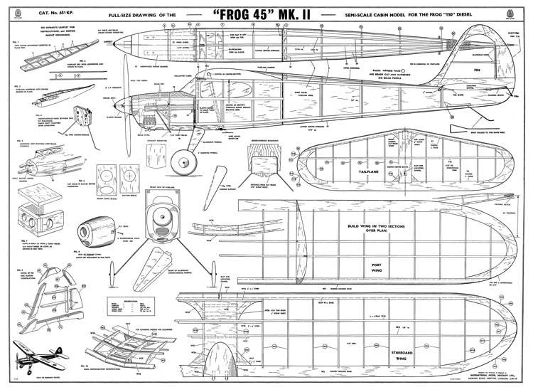 45 MkII model airplane plan