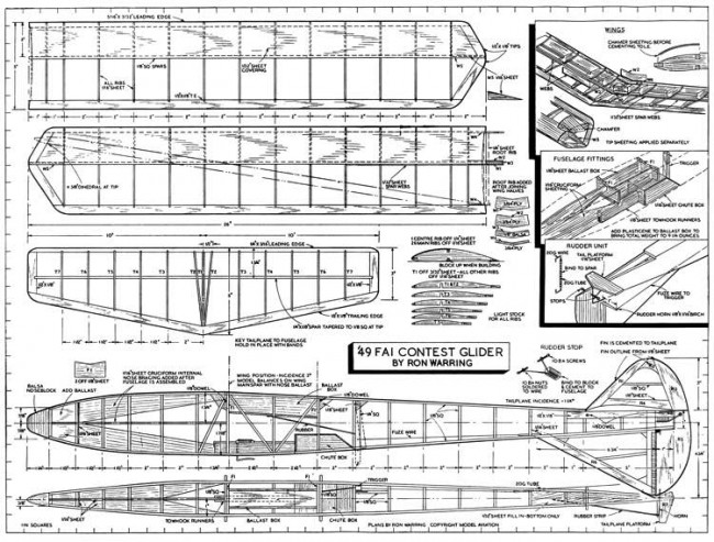 49 Contest 2 model airplane plan