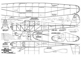 50inEnduranceFlyer model airplane plan