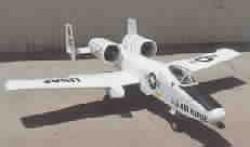 A-10 Warthog model airplane plan