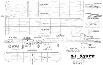 A-1 Saucy model airplane plan
