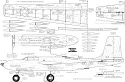 A-26 Profile 46in model airplane plan