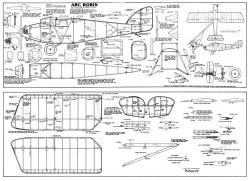 ABC Robin co2 model airplane plan