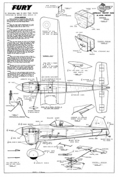 AF-Fury model airplane plan