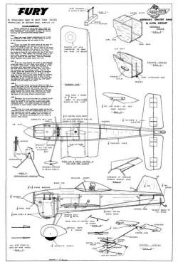 AF-Fury model airplane plan