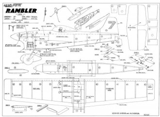 AF Rambler model airplane plan