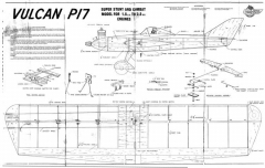 AF Vulcan P17 model airplane plan