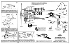 AT-6 Texan model airplane plan