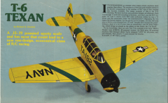 T-6 Texan MAN. (with full article) model airplane plan